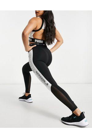PUMA Training high waisted block leggings in