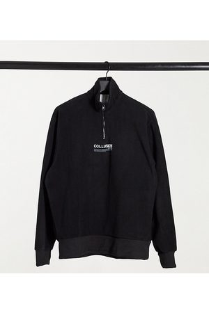 Collusion Unisex sweatshirt with funnel neck in fleece fabric