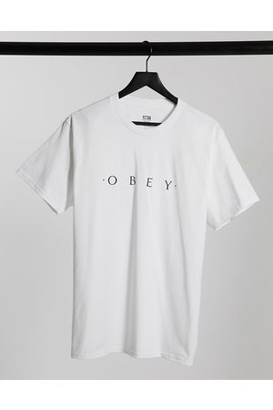 Obey Novel chest logo t-shirt in