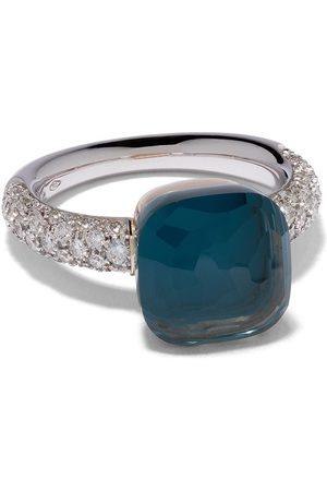 Pomellato 18kt white & rose gold Nudo Classic topaz and diamond ring