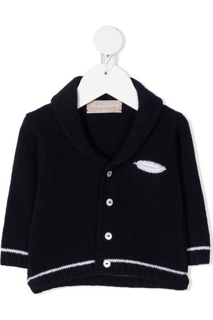 LA STUPENDERIA Stripe-trim wool cardigan