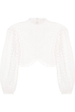 ZIMMERMANN Puff-sleeve cropped blouse