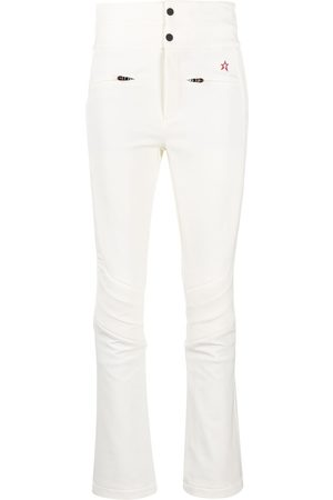 Perfect Moment Women Wide Leg Pants - Logo-embroidered flared trousers