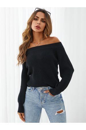 YOINS One Shoulder Lantern Sleeves Sweater