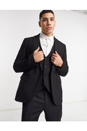 Bolongaro Plain skinny suit jacket in