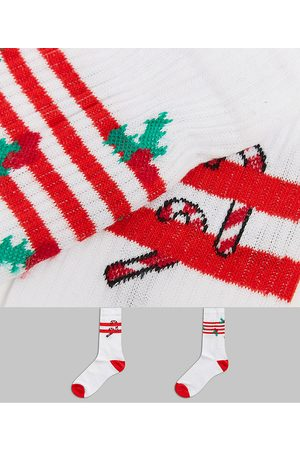 ASOS Sport sock with holly & candy cane 2 pack