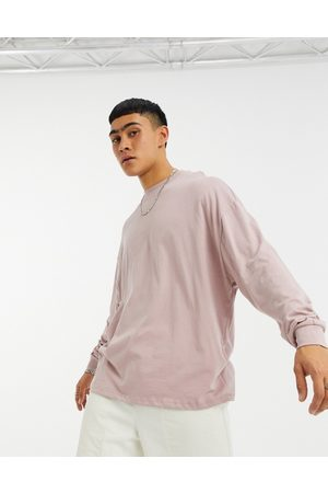ASOS Co-ord oversized long sleeve t-shirt in washed purple