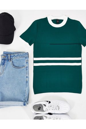 River Island Knitted blocked t-shirt in
