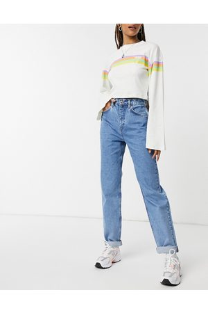 ASOS High rise 'slouchy' mom jeans in brightwash