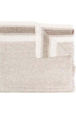 Brunello Cucinelli Striped knit scarf