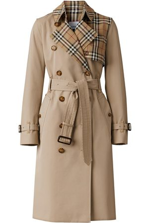 Burberry Vintage Check panel trench coat