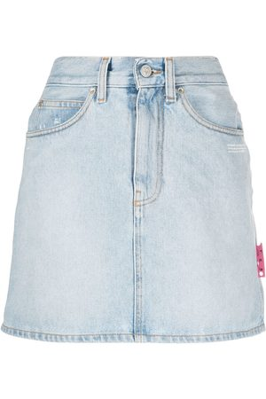 OFF-WHITE DENIM MINI SKIRT LIGHT NO COLOR