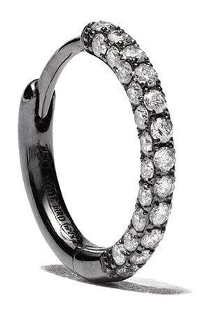 White Bird 18kt gold Giulia diamond single hoop