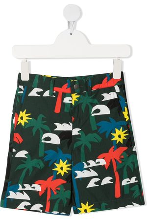 Stella McCartney Palm tree-print shorts
