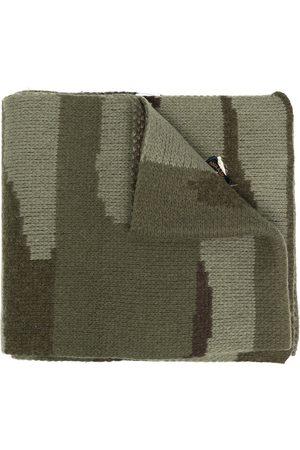 GREG LAUREN Camouflage-intarsia scarf
