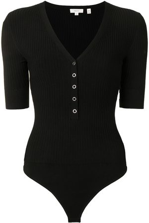 A.L.C. Ribbed button-up T-shirt