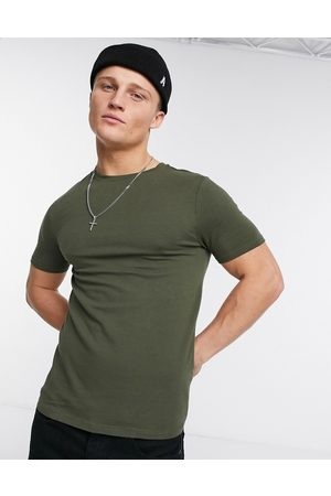 River Island Muscle fit tee in khaki
