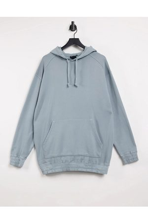 ASOS Oversized hoodie in washed blue