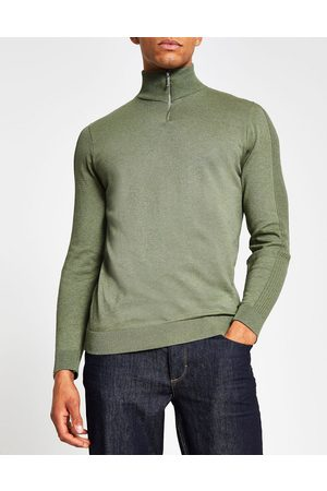 River Island Half zip neck jumper in