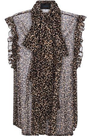 Costarellos Justina leopard-print chiffon top