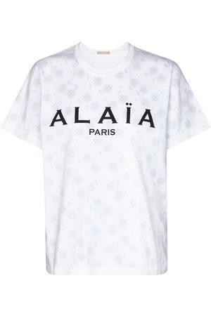 Alaïa Women Short Sleeve - Logo cotton jersey T-shirt