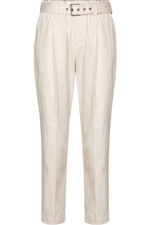 Brunello Cucinelli Stretch-cotton twill paperbag pants
