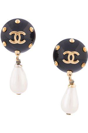 CHANEL 1996 CC pearl-embellished earrings