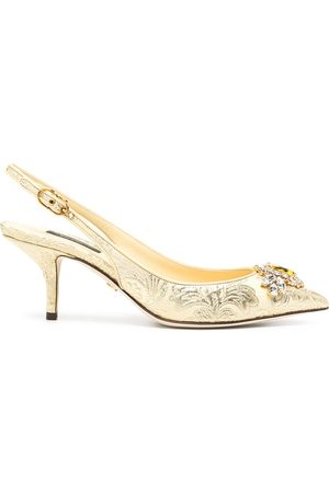 Dolce & Gabbana Women Shoes - Jacquard embellished low-heel pumps