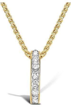 Pragnell Women Necklaces - 18kt yellow RockChic diamond bar pendant necklace