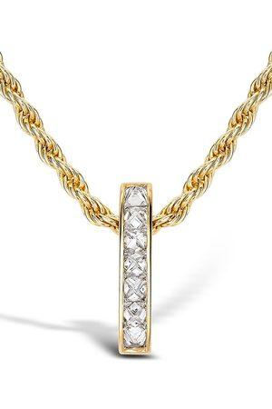 Pragnell 18kt yellow diamond bar RockChic pendant