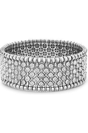 Pragnell 18kt white gold Bohemia diamond wide bangle