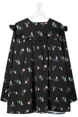 Natasha Zinko Girls Casual Dresses - Frilled shoulder dress
