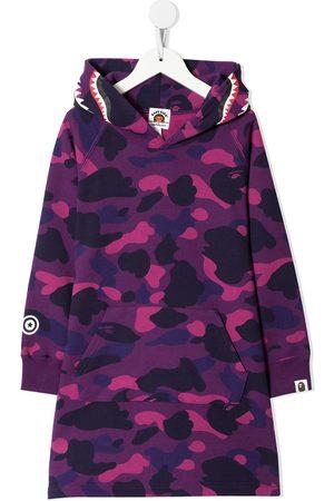 A BATHING APE® Camo Shark hooded dress