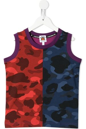 A BATHING APE® Boys Tank Tops - Colour Camo printed tank top