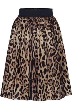 Dolce & Gabbana Leopard-print cotton poplin skirt