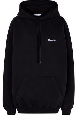 Balenciaga Women Hoodies - Logo cotton hoodie