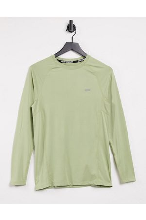 ASOS Muscle training long sleeve t-shirt with quick dry in sage