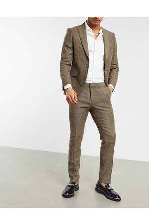 Shelby & Sons Slim suit trousers in light twill