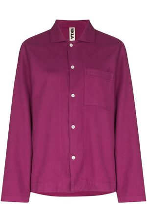 Tekla Long-sleeve cotton pyjama shirt