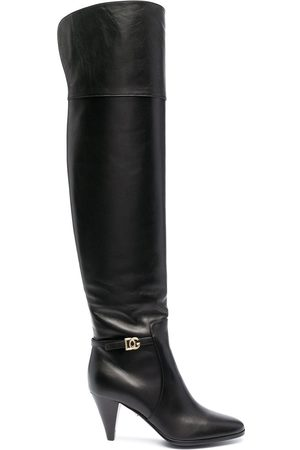 Dolce & Gabbana DG buckle knee-length boots