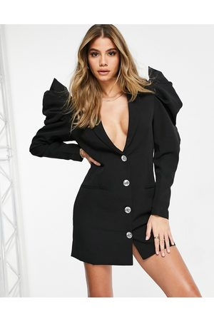 Saint Genies Extreme shoulder blazer dress in
