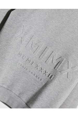 ASOS Oversized sweatshirt with embossed Roman numerals print