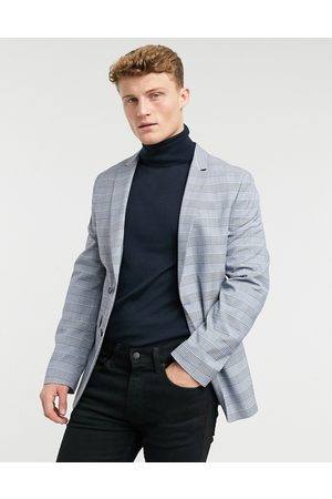 ASOS Super skinny suit jacket with prince of wales check in
