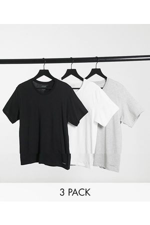 Calvin Klein 3pk t-shirts in black white and grey
