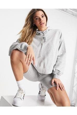adidas Trefoil Essentials logo hoodie in light