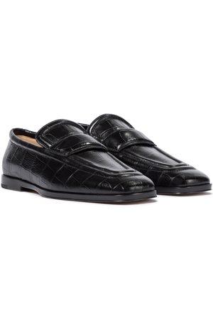 Bottega Veneta Croc-effect leather loafers
