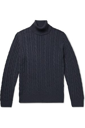 Loro Piana Baby Jumpers - Cable-Knit Baby Cashmere Rollneck Sweater