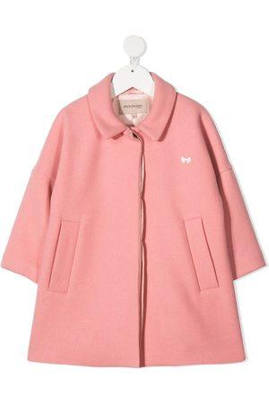 HUCKLEBONES LONDON Bow appliqué coat