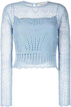 Alexander McQueen Women Long Sleeve - Crochet long-sleeve top