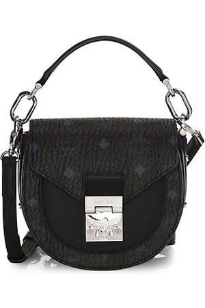 MCM Patricia Visetos Saddle Bag